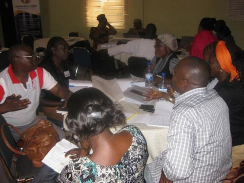 Participants at the Action aid training on Advocacy