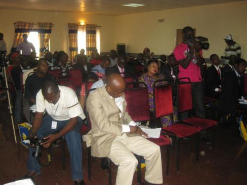 Participants at the  AfriGrowth Essay Award Ceremony 2009